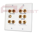 5.1 Surround Sound Distribution Wall Plate - 2 Gang