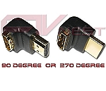HDMI 90 or 270 Degree Port Saver (Male to Female)