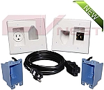 Recessed Pro Power AV Solution Kit - White